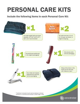 Personal Care Kit Assembly Signs