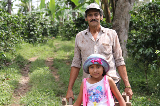 Gustavo and his granddaughter Maryering