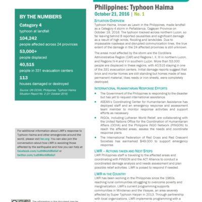 Typhoon Haiyan SitRep1
