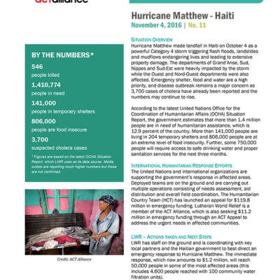 Hurricane Matthew SitRep 11