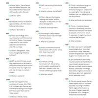 LWR Trivia Questions