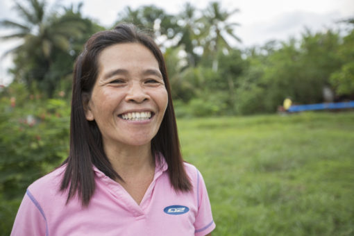 Lydia Guerero is a project participant in the Philippines. The project has helped to fill up the day after losing her husband, and is now able to provide for the needs of her family.