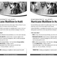 Hurricane Matthew Bulletin Insert