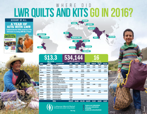 Quilt and Kit Delivery Map 2016