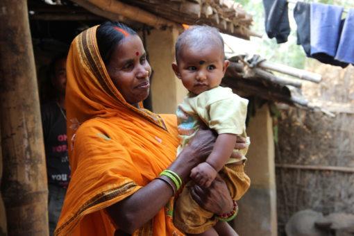 Geeta Devi and her grandchild