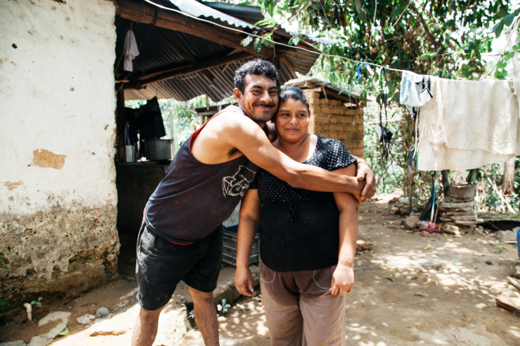 José León Torres and María Magdalena Castillo, husband and wife project participants, at their home in Honduras