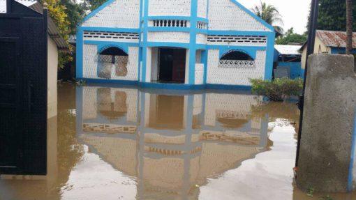 Hurricane Irma's flooding waters in Haiti, 2017